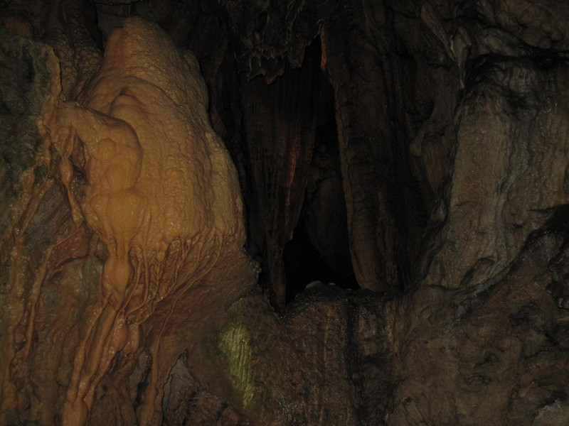 Touring the inside of pekel jama caves in Slovenia