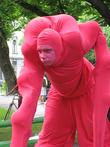 Huge Pink Guy  — At the Ana Desetnica Street Theatre Festival in Ljubljana, Slovenia.