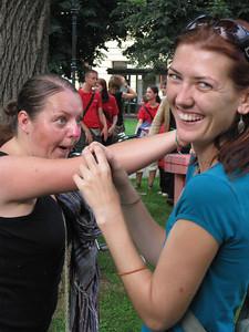 Umm....She's Touching Me  —At the Ana Desetnica Street Theatre Festival in Ljubljana, Slovenia.