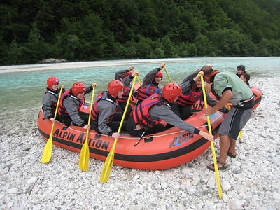 Learning the Ropes On the Emerald River Day Trip from Lake Bled, Slovenia.