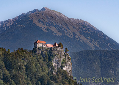 Blejski Castle overlooking lake - Bled