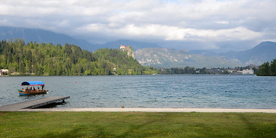 My one hour of sunshine in Bled