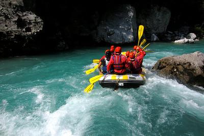 Rafting the Soca River in Slovenia