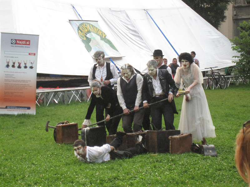 performers in Slovenia at the street theatre festival