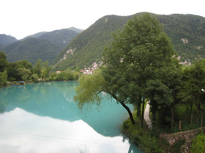 On the Emerald River Day Trip from Lake Bled, Slovenia.