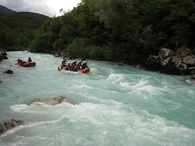 Rafting on the Soca River On the Emerald River Day Trip from Lake Bled, Slovenia.