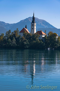 Assumption of Mary church in the lake
