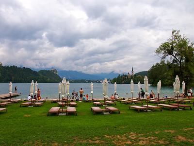 Lake Bled beach