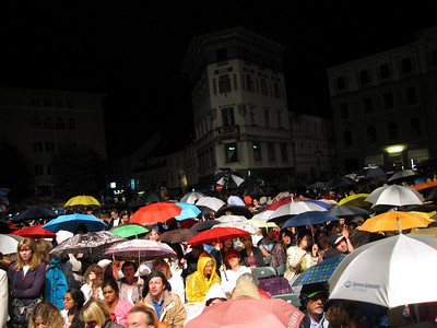 Rained Out at Swan Lake  — At the Ana Desetnica Street Theatre Festival in Ljubljana, Slovenia.