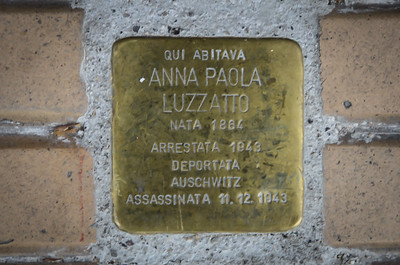 The plaque outside the house in Gorizia