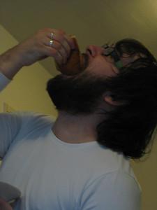 Mitja enjoying is donut!