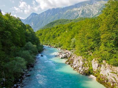Soca River in Slovenia