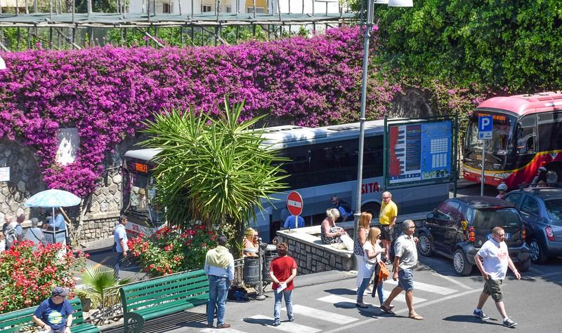 Sita Bus stop in Sorrento