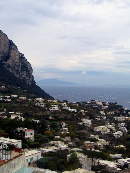 <center>Distant Vesuvius    <br><br>Capri, Italy</center>
