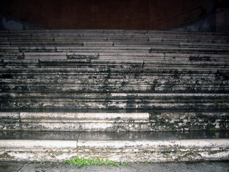 <center>Steps to Pilate    <br><br>Rome, Italy<br><br>Among the many relics St. Helena brought back from Jeruselem were the steps that Jesus ascended when he was brought before Pilate. These are those steps. Their authenticity is not challenged. </center>