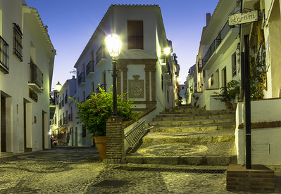 Frigiliana Street at Night