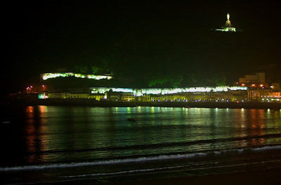San Sebastian at night