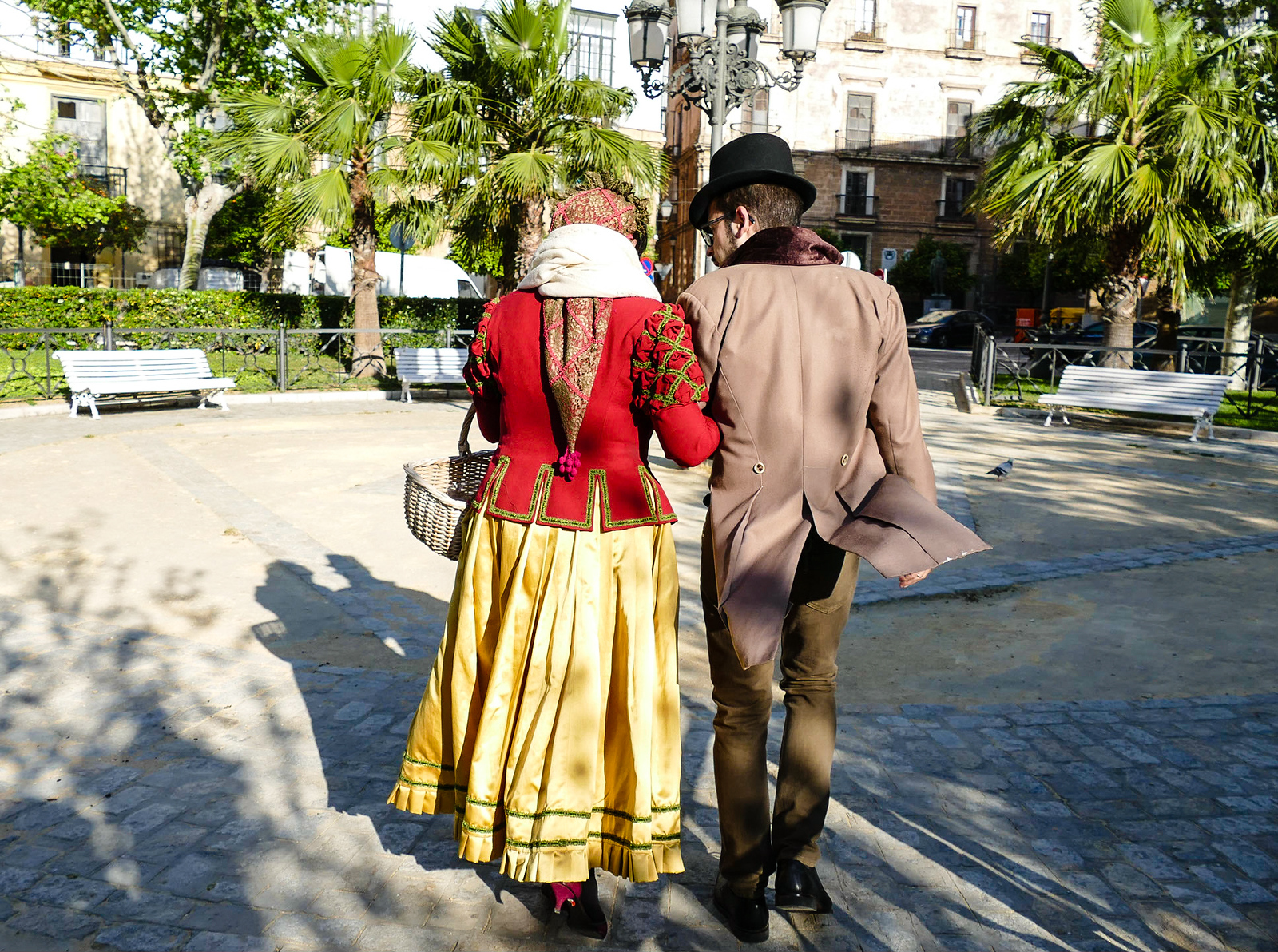 Following our guides, dressed in period costumes, we stroll through history on a Cadiz walking tour.