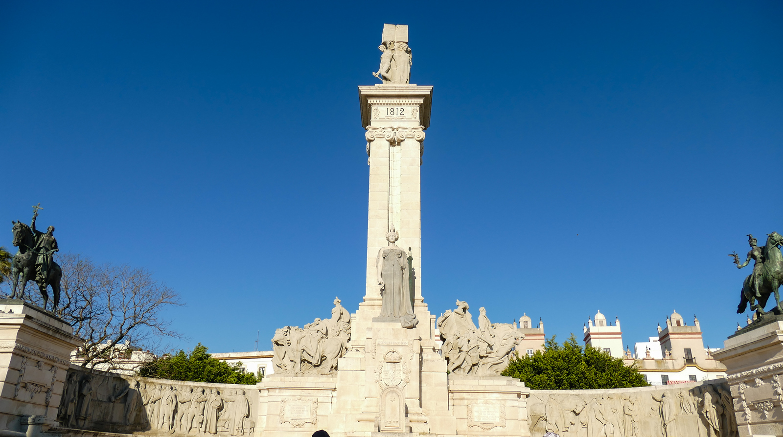 In Cadiz, Spain, the Monumento a la Constitution commemorates the signing of the first Spanish constitution.