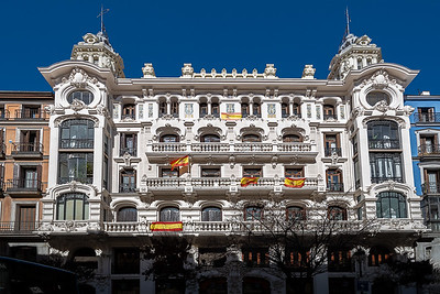 fancy facade Plaza Mayor