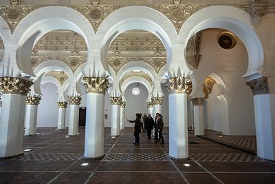 arches Santa Maria la Blanca Synagogue Toledo