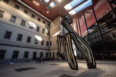 horse sculpture interior courtyard Queen Sofia National Museum