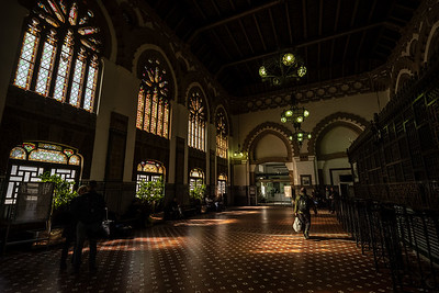 inside Toledo train station