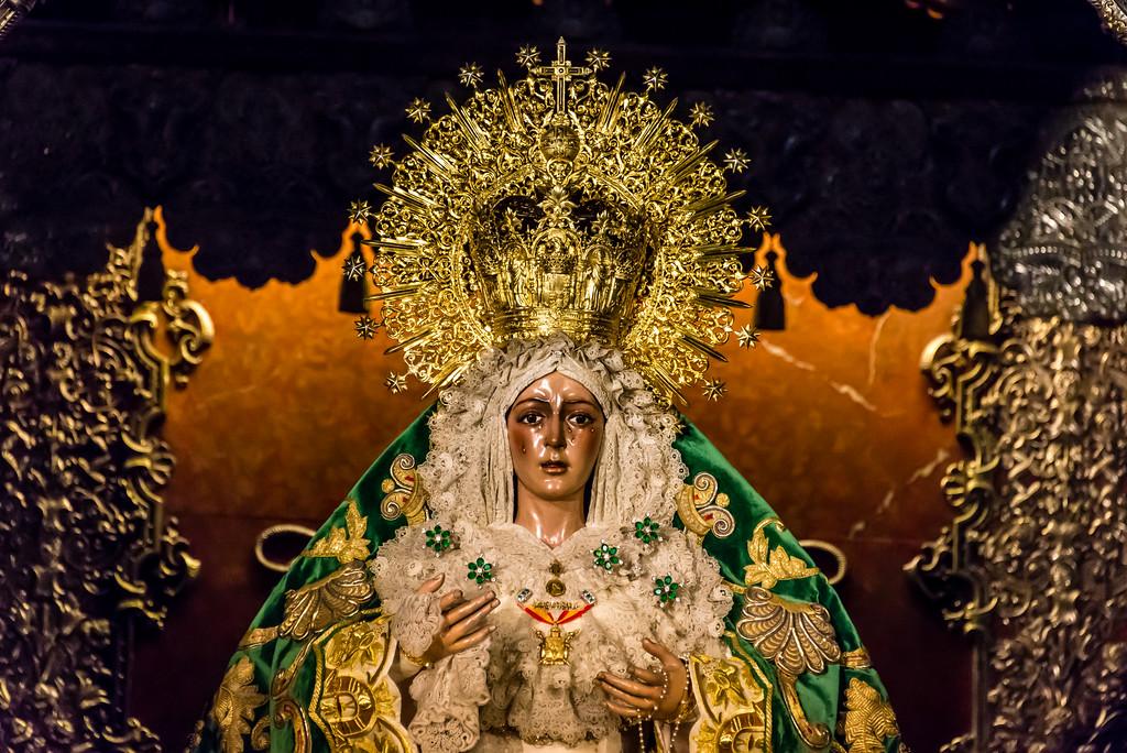 Weeping Virgin Mary Statute