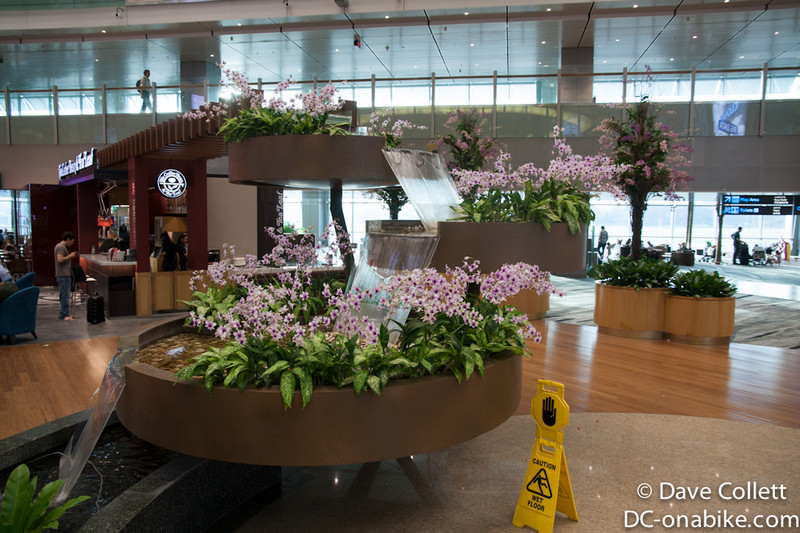 Waterfall inside Singapore Airport
