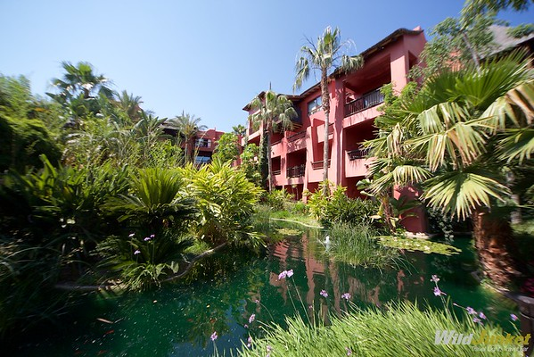 Lush gardens and koi ponds exude a tropical atmosphere