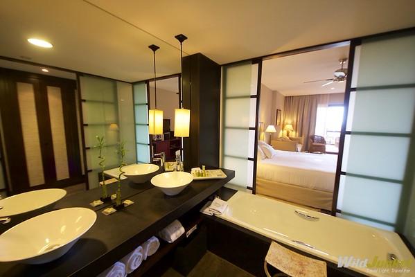 The enormous bathroom
