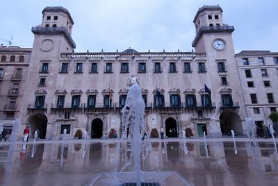 The Alicante Town Hall facade in Alicante, Spain