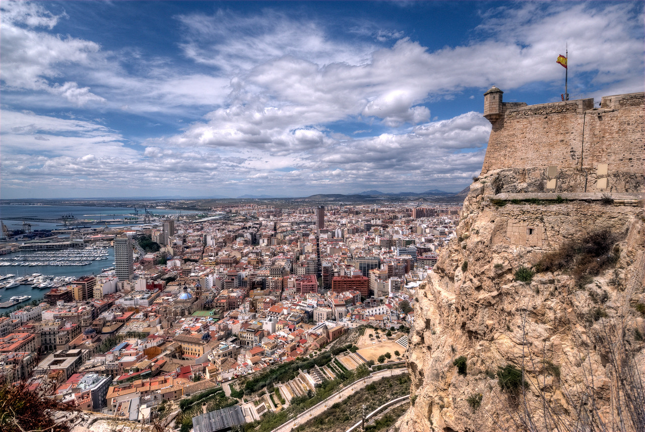 Overlooking the skyline of Alicante, Spain