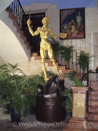 City Hall - Dali status in Entryway
