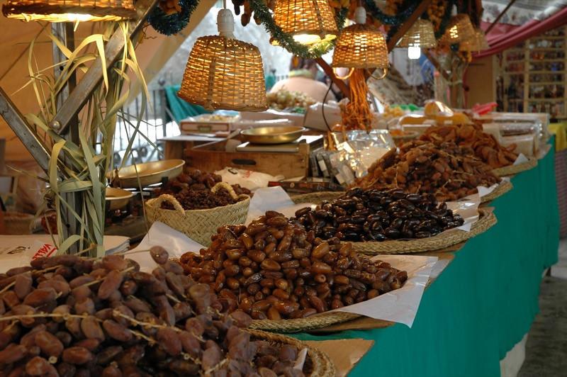 Dates at Christmas Market - Malaga, Spain