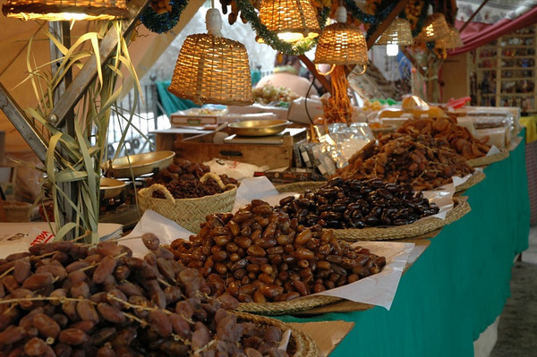 Dates at Christmas Market - Malaga, Spain
