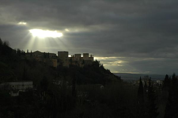 Alhambra Under Sunlight - Granada, Spain