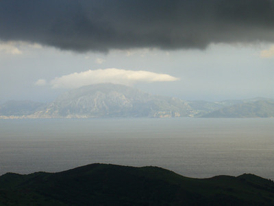 A View to Gibraltar and Africa - Andalusia, Spain