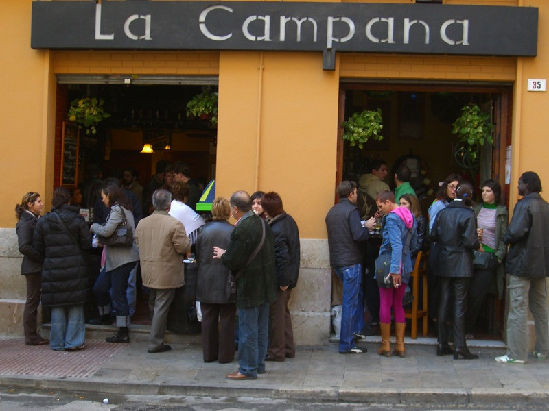 Tapas Crowd at La Campana - Malaga, Spain