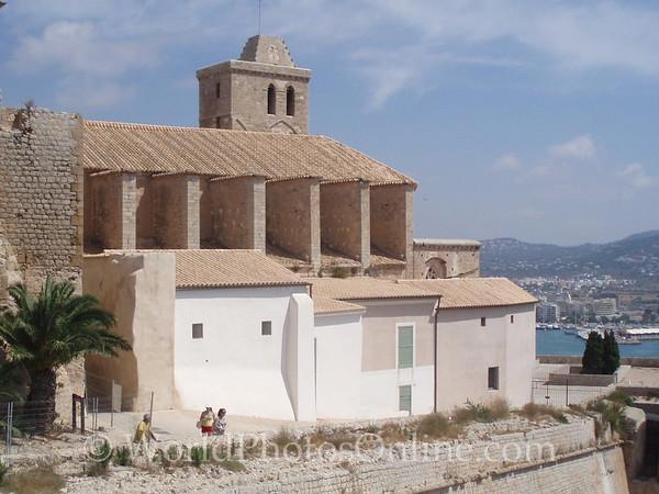 Eivissa - Dalt Vila - Cathedral from the back
