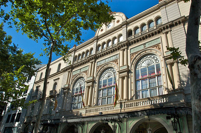 The city's grand opera house (on La Rambla)