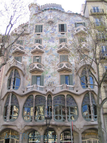 House designed by Antoni Gaudi, Barcelona, Spain