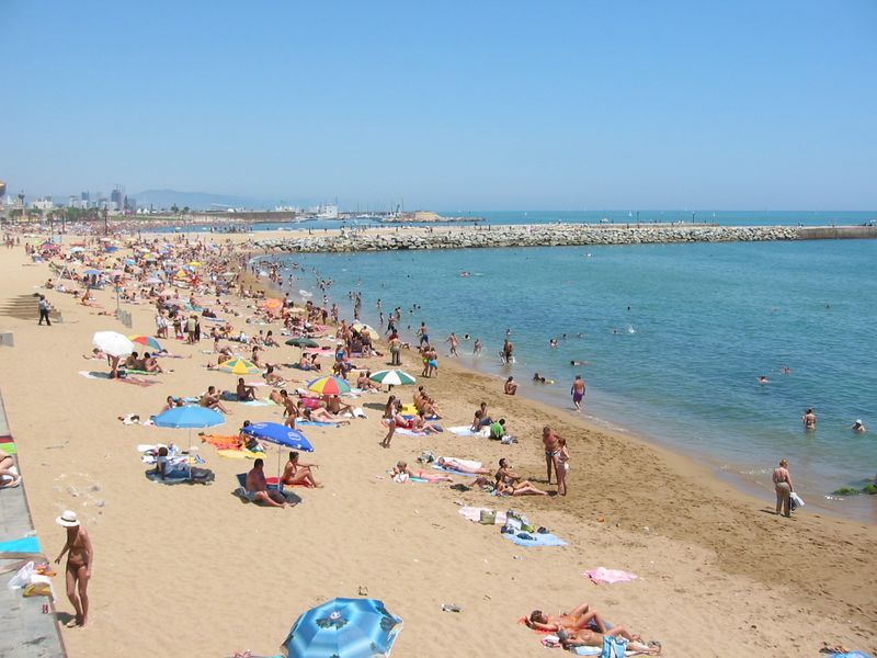 Barcelona beach, 2004