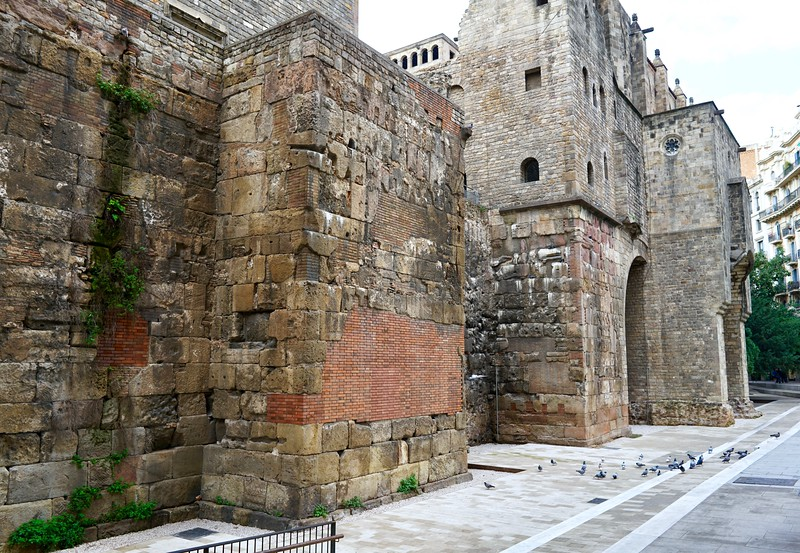 Walls of Roman Barcelona