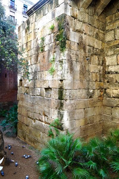 Walls of Roman Barcelona