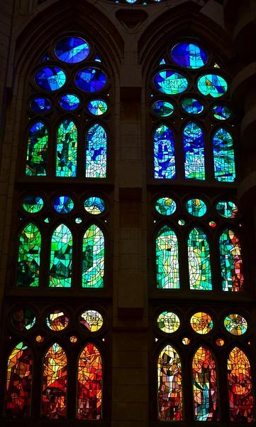 Sagrada Familia cathedral (interior)