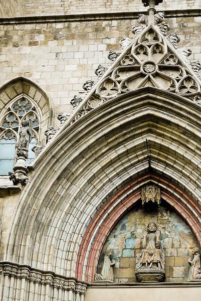The edifice of Santa Maria del Mar in Barcelona, Spain.