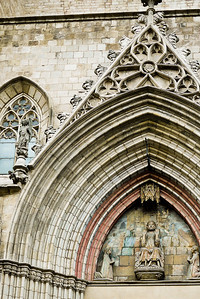 The edifice of Santa Maria del Mar in Barcelona, Spain.