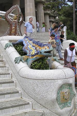 Barcelona - Parc Guell - Mosaic Lizard