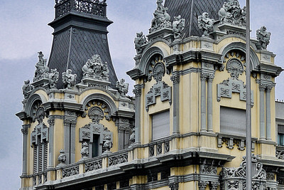 Pretty architecture to keep with the feel of the historic city in Barcelona, Spain.